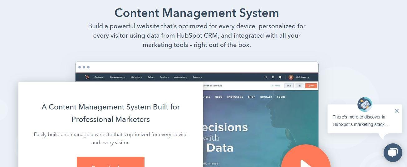 Hubspot Content Management System