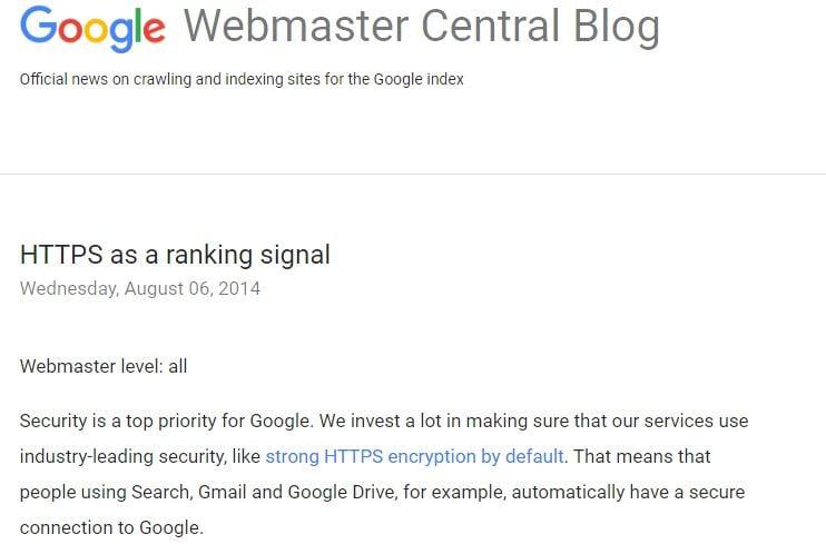 Google SSL Ranking_seo strategy