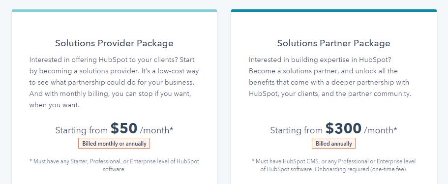 pricing_hubspot agency partner program