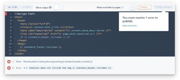 code alerts_hubspot cms hub