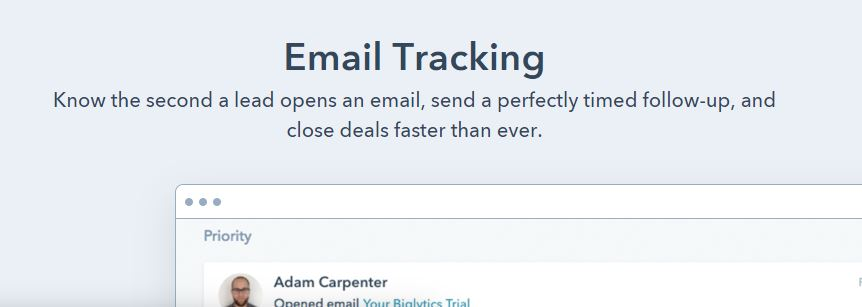 HubSpot Email Tracking