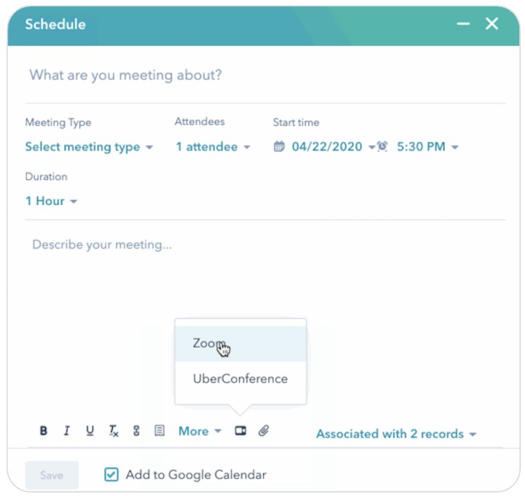 June HubSpot Product Updates_video conference extension API