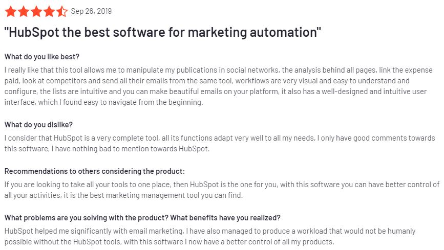 review from g2 hubspot cms reviews