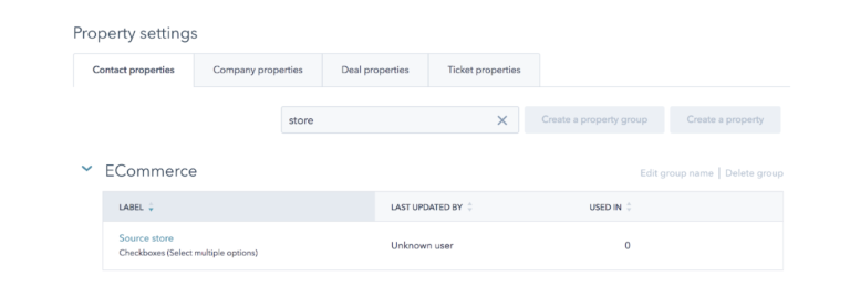 hubspot ecommerce page update